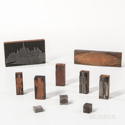 Ten Odd Fellows Printing Blocks