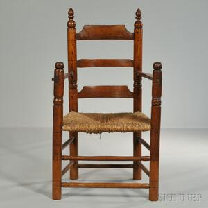 Turned Maple Armchair