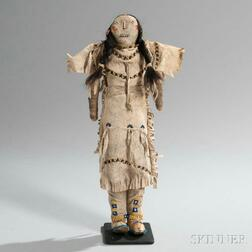 Cheyenne/Arapaho Beaded Hide Doll