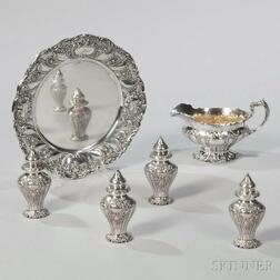 "Six Pieces of Gorham ""Chantilly"" Pattern Sterling Silver Tableware"