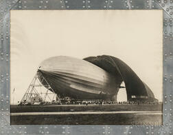 Margaret Bourke-White (American, 1904-1971)      U.S.S. Airship Akron, World's Largest Airship