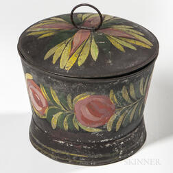 Painted Tin Sugar Bowl