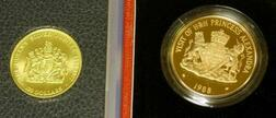 Cayman Islands  $250 and $100 Gold Proof Commemorative Coins