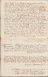 Dudley, Paul (1675-1751) Document Signed, Boston, 22 January 1705.