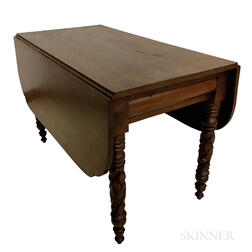 Classical Carved Mahogany Drop-leaf Table