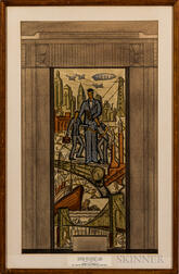 Agnes M. Thorley (American, 20th Century)      Study for a Mosaic and Fresco, Office Building Lobby.