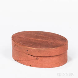 Salmon-painted Oval Panty Box