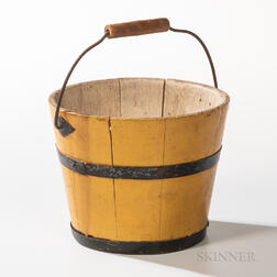 Shaker Yellow-painted Berry Pail
