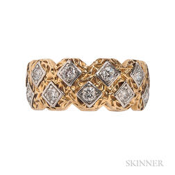 18kt Gold, Platinum, and Diamond Ring, Mauboussin