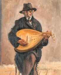 Iosif Iser (Romanian, 1881-1958)      Mandolin Player