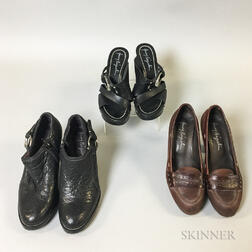Three Pairs of Handmade Henry Beguelin Shoes