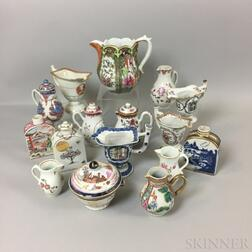 Group of Chinese Export Porcelain Tableware Items