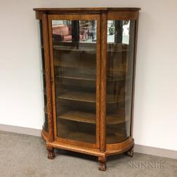Larkin and Co. Oak Display Cabinet