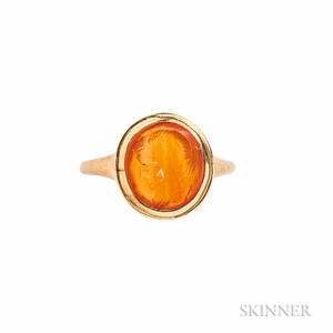 18kt Gold and Carnelian Intaglio Ring