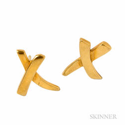 18kt Gold Earrings, Paloma Picasso, Tiffany & Co.
