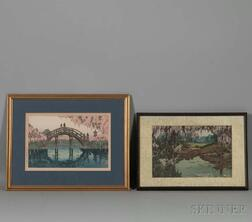 Two Shin Hang   Woodblock Prints