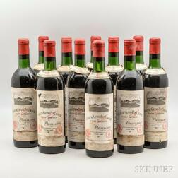 Chateau Grand Puy Lacoste 1966, 11 bottles