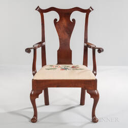 Walnut Armchair