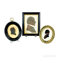Three Framed Silhouettes of Gentlemen