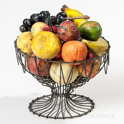 Wirework Compote with Stone Fruit
