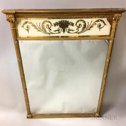F.J. Newcomb Federal-style Eglomise Mirror