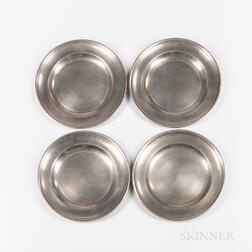 Four American Pewter Plates