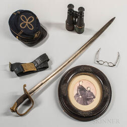 Personal Items Owned by 1st Lieutenant Jonah F. Clarke, Company H, 13th Connecticut Volunteer Infantry