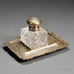 Whiting Sterling Silver and Glass Larchmont Yacht Club Trophy Standish
