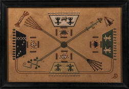 Luther Douglas (1919-1976) Navajo Sand Painting on Board
