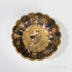 Fuzan Satsuma Scalloped Bowl