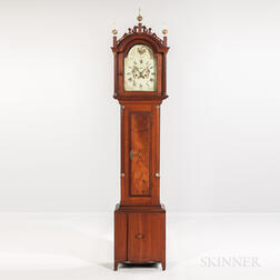 Inlaid Cherry Tall Case Clock