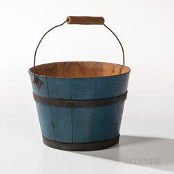 Shaker Blue-painted Berry Pail
