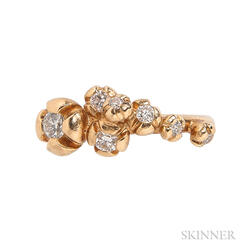 "18kt Gold and Diamond ""Fleur D'Or"" Ring, Ragnar R. Jorgensen"