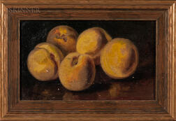 John Clinton Spencer (American, 1861-1919)    Still Life with Five Peaches