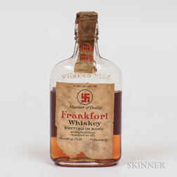 Frankfort Whiskey 1911, 1 1/2 pint bottle