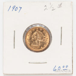 1907 $2.50 Liberty Head Gold Coin.     Estimate $200-300