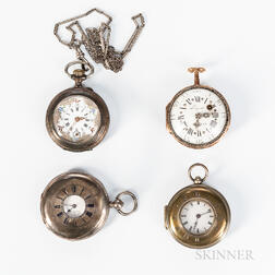 Two Demi-hunter and Two Early Pendant Watches
