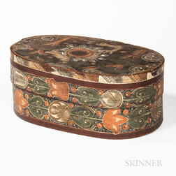 Oval Paint-decorated Bentwood Bride's Box