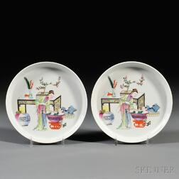 Pair of Famille Rose Dishes