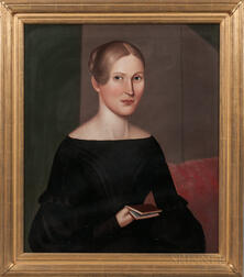 American School, 19th Century      Portrait of a Young Woman
