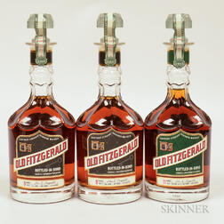 Mixed Old Fitzgerald Bottled in Bond, 3 750ml bottles