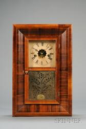 Miniature Mahogany Ogee Clock by Waterbury Clock Company