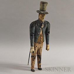 Polychrome, Carved, and Articulated Uncle Sam Figure