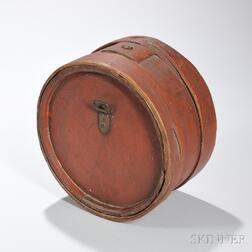 Large Red-painted Canteen