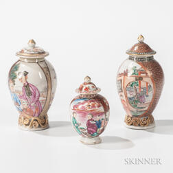 Three Export Porcelain Jars