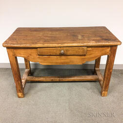 French Provincial Fruitwood Dough Table
