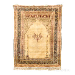 Tabriz Silk Prayer Rug
