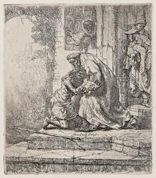 Rembrandt Harmensz van Rijn (Dutch, 1606-1669)      The Return of the Prodigal Son