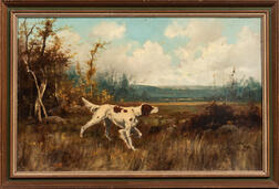 Thomas Griffin (American, 1858-1918)      Pointer in a Landscape