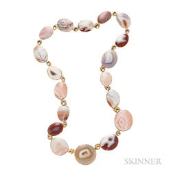 18kt Gold and Agate Necklace, Tom and Jutta Munsteiner